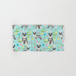 Schnauzer easter costume spring easter bunny pure breed dog pattern gifts Hand & Bath Towel