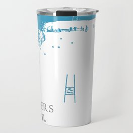 SKI RACING - WINNERS TRAIN LOSERS COMPLAIN - BLUE Travel Mug