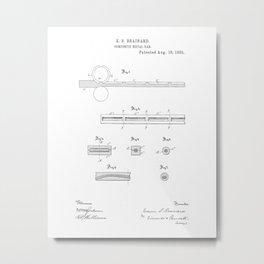 Composite Metal Bar Vintage Patent Hand Drawing Metal Print