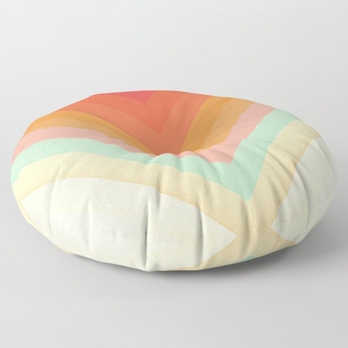 Rainbow Chevrons Floor Pillow