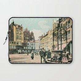 Antwerp Belgium city center restored view around 1900 Laptop Sleeve
