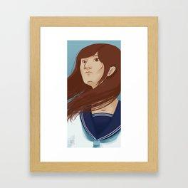 Serafuku Girl Framed Art Print