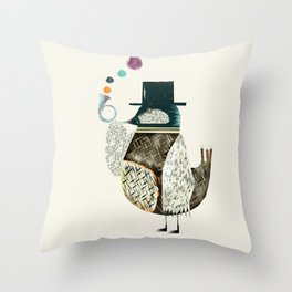 the dapper bird Throw Pillow