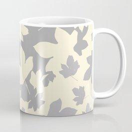 Envelope leaves decor. Grey. off-white. Coffee Mug