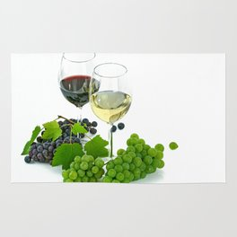 wine glasses Rug