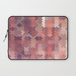 geometric square pixel pattern abstract in brown Laptop Sleeve