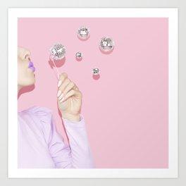 Disco Bubbles Art Print