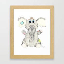 Izzy the Elephant Framed Art Print