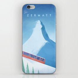 Ski Zermatt iPhone Skin