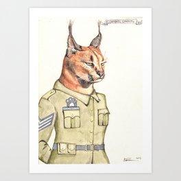 Corporal Caracal Art Print