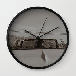 rambling girl Wall Clock