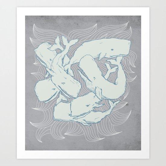 Silent Swim Art Print