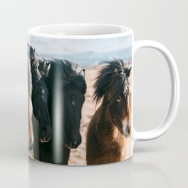 Horses in Iceland - Wildlife animals Coffee Mug