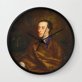 Alexander Pope by Jonathan Richardson (1738) Wall Clock