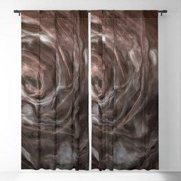 Coffee and cream swirl Blackout Curtain