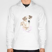 jack russell Hoodies featuring Jack russell terrier love by Nemimakeit