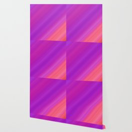Orange & Purple Diagonal Stripes | Bright gradient pattern Wallpaper