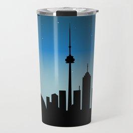 Toronto Skyline - Night Travel Mug