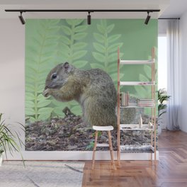 A squirrels feast Wall Mural
