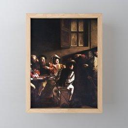 Caravaggio The Calling of Saint Matthew Framed Mini Art Print