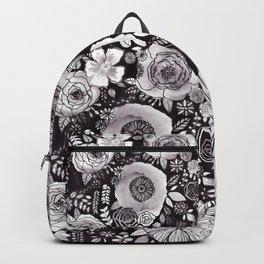 Black&White Floral Mix Backpack