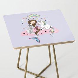 Mermaid & Unicorn Side Table