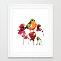 robin Framed Art Prints featuring ROBIN by genie espinosa