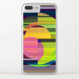 Juxtaposed Circles Clear iPhone Case