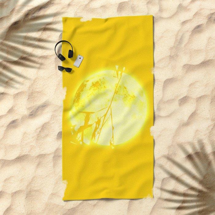 Broken Sun Beach Towel