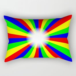 Mulri Colour Bright Ray Background Rectangular Pillow