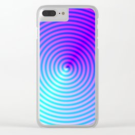 Coiled in Blue and Pink Clear iPhone Case