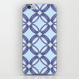 Sixtees purple blue iPhone Skin