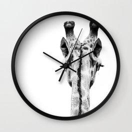 Giraffe Portrait Wall Clock