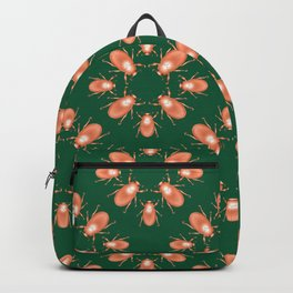 Copper Beetle on Green Background Backpack