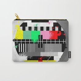 Retro grunge color tv test screen Carry-All Pouch