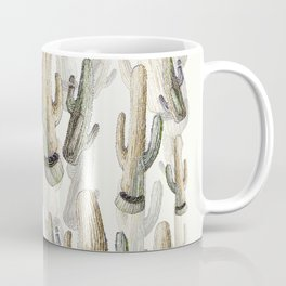 Cactus Draw Coffee Mugs | Society6