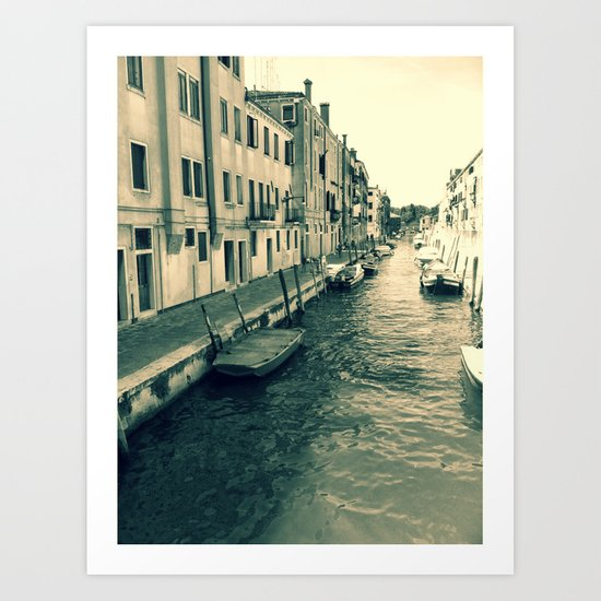 Venezia, where my heart is Art Print
