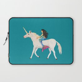To the Land of Mermaids and Unicorns Laptop Sleeve