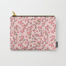 29 Cute floral pattern. Pink flowers. Carry-All Pouch