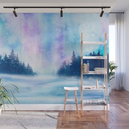 Watercolor Winter Scenery Wall Mural