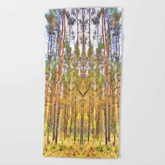 Guardian of the Woods Beach Towel