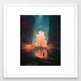 ILLUMINATED PATH (everyday 07.06.17) Framed Art Print
