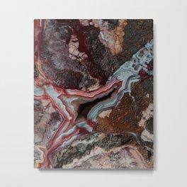 Earth treasures - patterns of colorful agate Metal Print