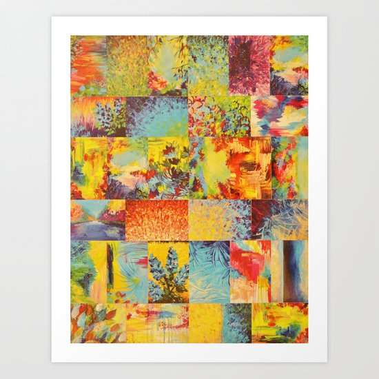 COLORFUL INDECISION 2 - Vibrant Wow Beautiful Abstract Acrylic Painting Collection Nature Rainbow Art Print