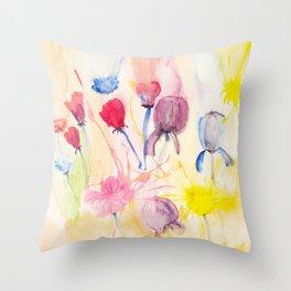 Wildblumen / Wild flowers Throw Pillow