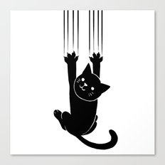 Cat Scratch Canvas Print