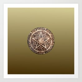 Brigid's Pentacle Art Print