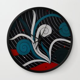 Whale Pass Wall Clock