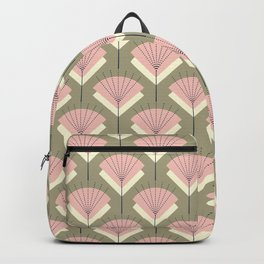Mid-century Modern Radio Antenna Pattern /Rose Backpack