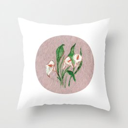Flor VIII (Flower VIII) Throw Pillow